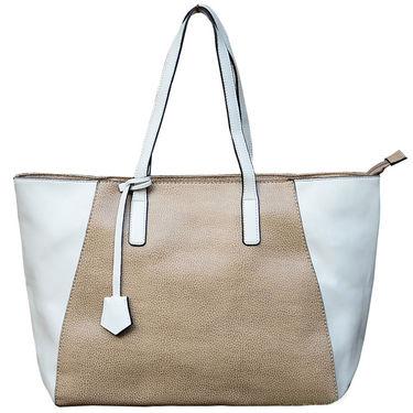 Sai Arisha PU White-Cream Tote Handbags -LB638