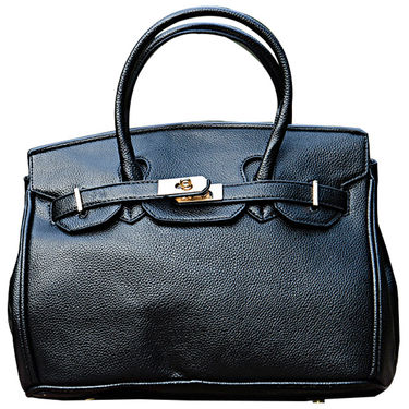 Sai Arisha PU Black Kelly handbags-LB696