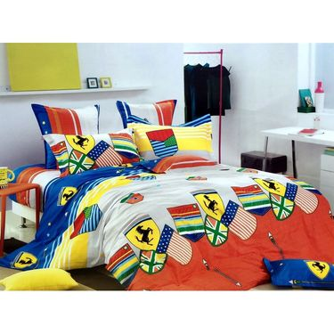 Lakshaya 100% Cotton Double Bedsheet With 2 Pillow Covers-LE-019