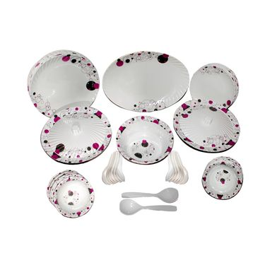 Oromax 44 Pcs Melamine Dinner Set -multicolor -LE-ORM-008