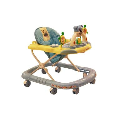 Baby Walker Musical with Tray - Blue & Yellow