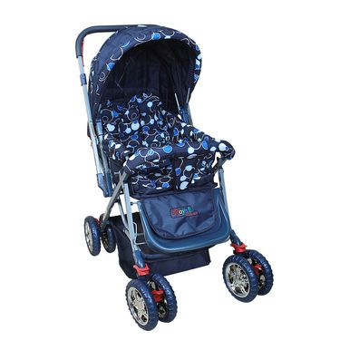 Pram Baby Day Out - Blue Circle