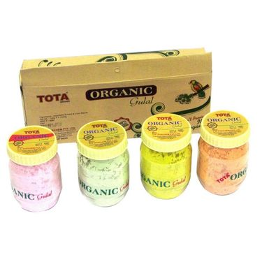 Tota Organic Gulal 4 Pcs of 125gm Gift Pack