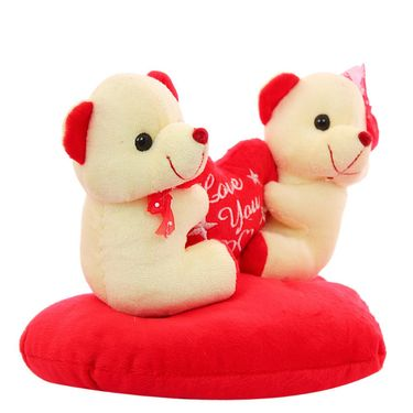 Heart With Couple Valentine Stuff Teddy - White
