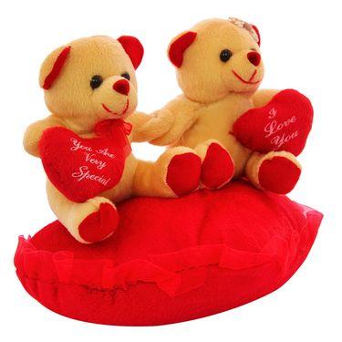 Heart In Hand Couple Valentine Stuff Teddy - Brown