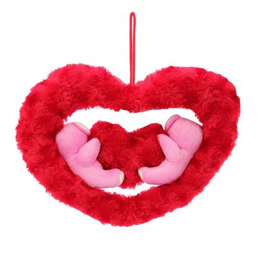Couple onHeart Valentine Stuff Teddy - Pink