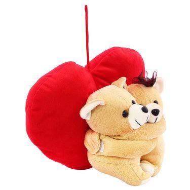 Hug WithHeart Valentine Stuff Teddy - Brown