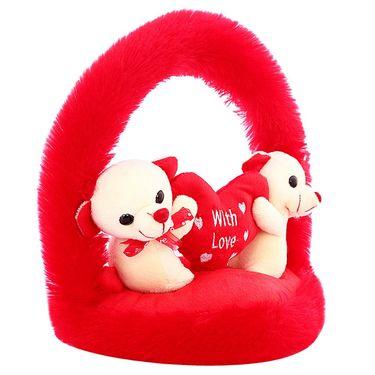 CloudieCouple OnHeart Valentine Stuff Teddy - White