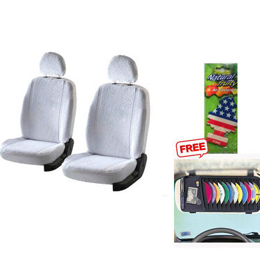 Latest Car Seat Cover for Toyota New Fortuner - White