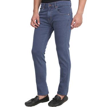 Levis Plain Slim Fit Stretchable Jeans For Men_L504b - Blue