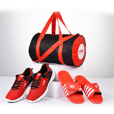 Liberty Style Sports Shoes + Acupressure Slipons + Bag (C9)