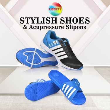 Liberty Stylish Shoes + Acupressure Slipons (C4)