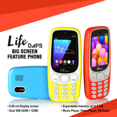 LifeDAPS Big Screen Feature Phone