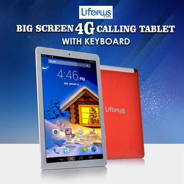 LifePlus Big Screen 4G Calling Tablet with Keyboard