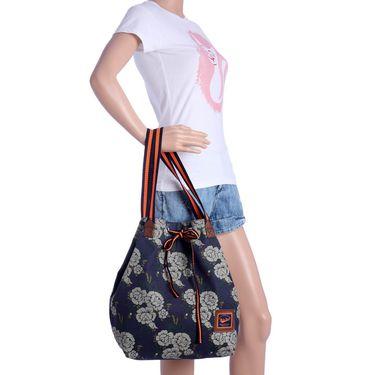 Be For Bag Canvas Cloth HandBag Blue -Lizzie