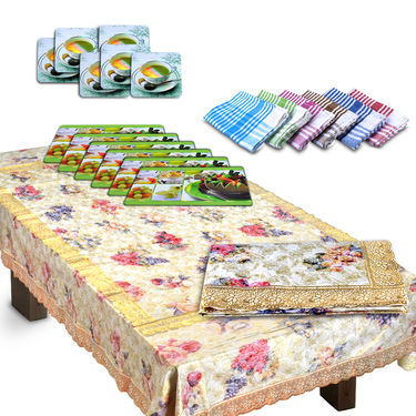 Luxury Queen 20 Pcs Dining Table Cover Set