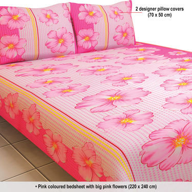 Good ... Luxury Queen 8 Designer Double Bed Sheets With 16 Pillow Covers (8BS12)  ...