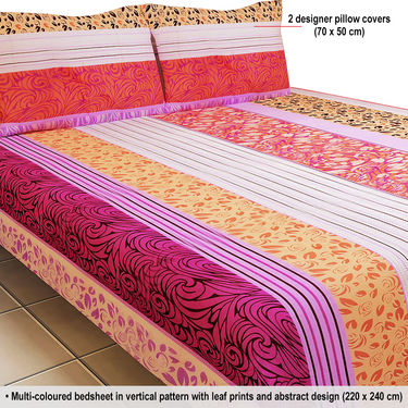 Superb ... Luxury Queen 8 Designer Double Bed Sheets With 16 Pillow Covers (8BS12)  ...
