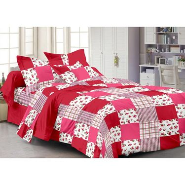 Set Of 3 100% Cotton Double Bedsheet with 6 Pillow Covers-MG1094_1460_62