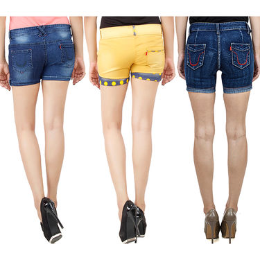 Pack Of 3 Uber Urban Denim Shorts-UB-09