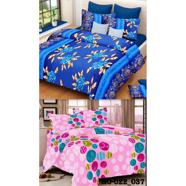 Set of 2 Valtellina Double Bedsheet With 4 Pillow Cover-MO022037