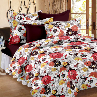 Storyathome 14 Pcs Premium 100% Cotton Designer Bedsheets Combo-MP_1206-1208-PC_1407-1410-FY1424