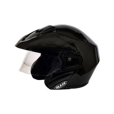 Mototrance Blaze Trace Open Face Helmet Black (ISI Mark)