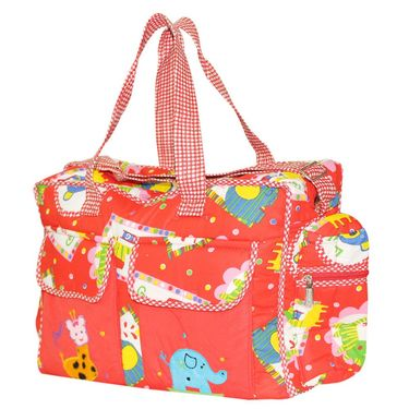 Wonderkids Red Print Baby Diaper Bag
