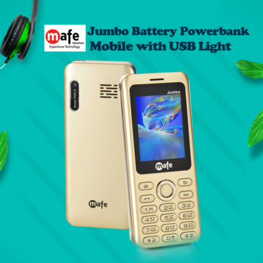 Mafe Jumbo Battery PowerBank Mobile with USB Light