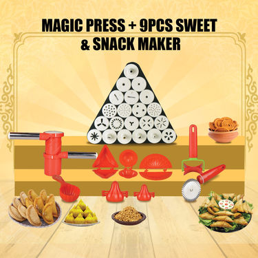 Royal Chef Magic Press + 9 Pcs Sweets & Snack Maker