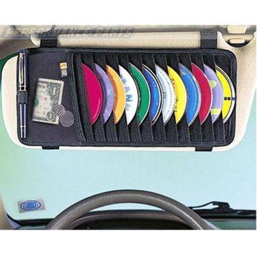 Combo of Car Mat Black-Rubber, DVD Holder, Freshner, Blind Spot Mirror and Non-Slip Dash