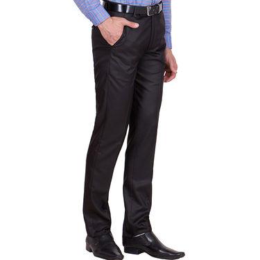 Tiger Grid Pack of 2 Cotton Formal Trouser For Men_Md011