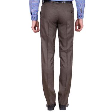 Tiger Grid Pack of 2 Cotton Formal Trouser For Men_Md016
