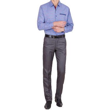 Tiger Grid Pack of 2 Cotton Formal Trouser For Men_Md018