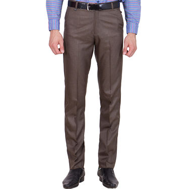 Tiger Grid Pack of 2 Cotton Formal Trouser For Men_Md024