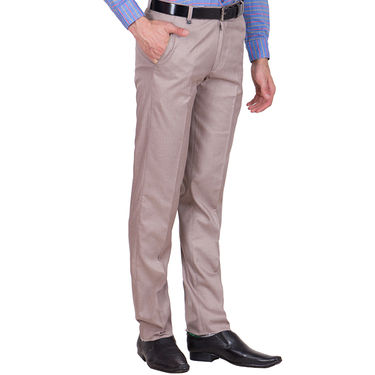 Tiger Grid Pack of 2 Cotton Formal Trouser For Men_Md025
