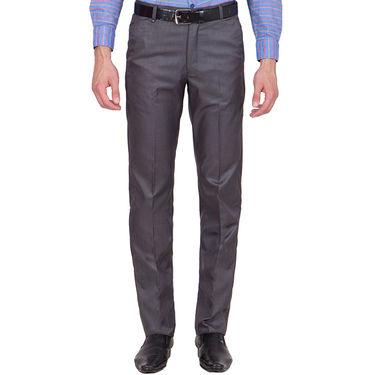 Tiger Grid Pack of 2 Cotton Formal Trouser For Men_Md033