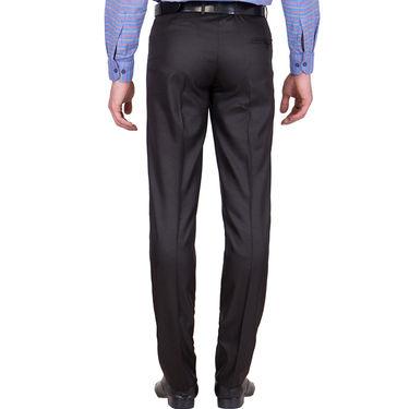 Tiger Grid Pack of 3 Cotton Formal Trouser For Men_Md044