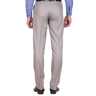 Tiger Grid Pack of 3 Cotton Formal Trouser For Men_Md051