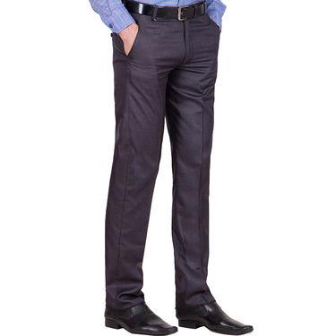 Tiger Grid Pack of 3 Cotton Formal Trouser For Men_Md052