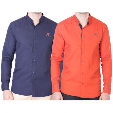 Cliths Pack of 2 Cotton Shirts For Men_Md072