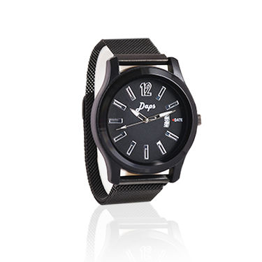 Men's Black Watch with Magnetic Belt