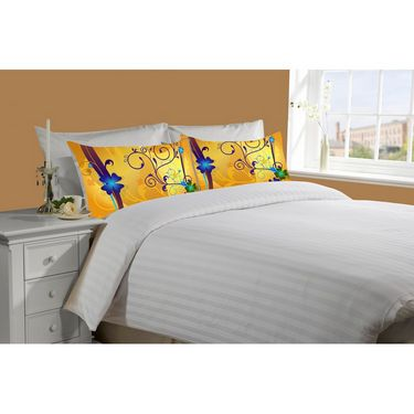 Mesleep White Double Bed Sheet With 2 Pillow Covers- SS-Pillow-02-26