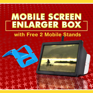 Mobile Screen Enlarger Box with Free 2 Mobile Stands