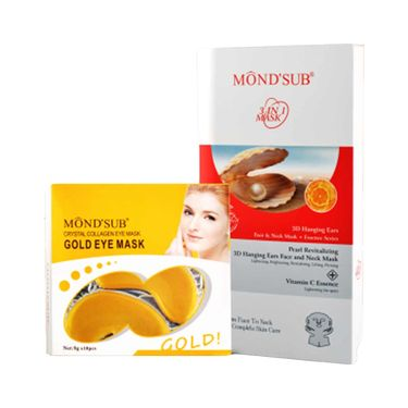 MondSub Whitening Mask Pack of 5 Pcs with 10 Pcs Eye Mask Free