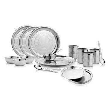 Mosaic 24 Pcs Dinner Set - Silver