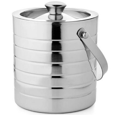 Mosaic Steel Ice Bucket Glory Big - Silver