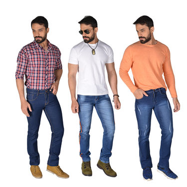 Mr. Tusker Set of 3 Denims for Men (MT6)
