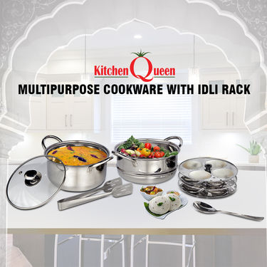Multipurpose Cookware with Idli Rack