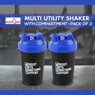 Multi Utility Shaker with Compartment - Pack of 2